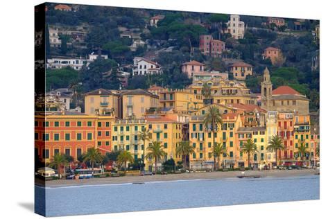 Santa Margherita Ligure Seen from the Harbour, Genova (Genoa), Liguria, Italy, Europe-Carlo Morucchio-Stretched Canvas Print