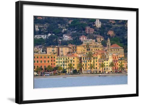 Santa Margherita Ligure Seen from the Harbour, Genova (Genoa), Liguria, Italy, Europe-Carlo Morucchio-Framed Art Print