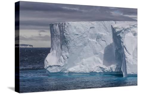 Tabular Iceberg in the Gerlache Strait, Antarctica, Polar Regions-Michael Nolan-Stretched Canvas Print