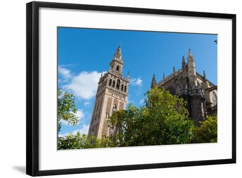 Sevilla Cathedral and Giralda, Seville, Andalucia, Spain-Carlo Morucchio-Framed Art Print