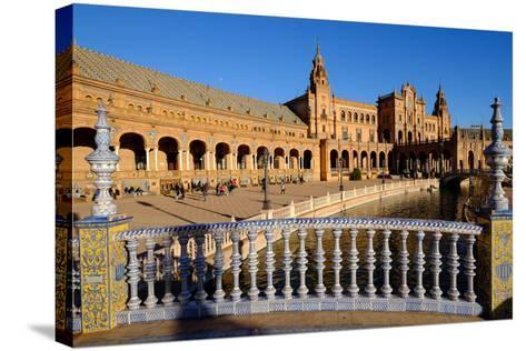 Plaza De Espana, Built for the Ibero-American Exposition of 1929, Seville, Andalucia, Spain-Carlo Morucchio-Stretched Canvas Print