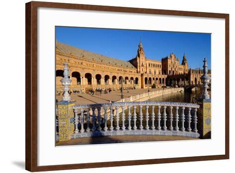 Plaza De Espana, Built for the Ibero-American Exposition of 1929, Seville, Andalucia, Spain-Carlo Morucchio-Framed Art Print