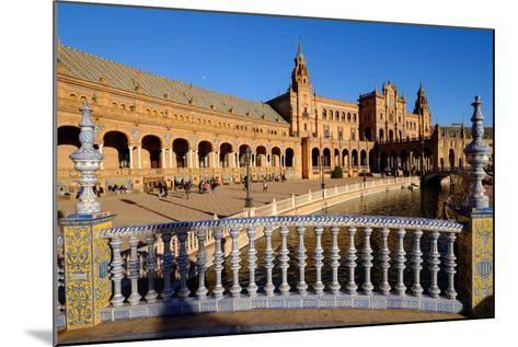 Plaza De Espana, Built for the Ibero-American Exposition of 1929, Seville, Andalucia, Spain-Carlo Morucchio-Mounted Photographic Print