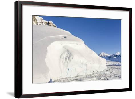 Snow-Covered Mountains Line the Ice Floes in Penola Strait, Antarctica, Polar Regions-Michael Nolan-Framed Art Print