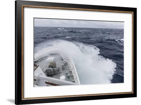 The Lindblad Expeditions Ship National Geographic Explorer in the Gerlache Strait, Antarctica-Michael Nolan-Framed Art Print