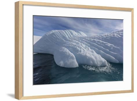 Glacial Iceberg Detail at Cuverville Island, Antarctica, Polar Regions-Michael Nolan-Framed Art Print