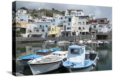Fishing Boats at Borgo Sant' Angelo, Ischia, Campania, Italy, Europe-Oliviero Olivieri-Stretched Canvas Print