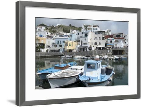 Fishing Boats at Borgo Sant' Angelo, Ischia, Campania, Italy, Europe-Oliviero Olivieri-Framed Art Print
