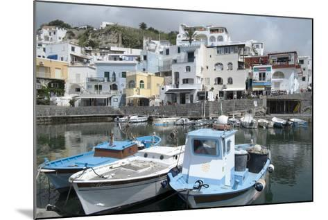 Fishing Boats at Borgo Sant' Angelo, Ischia, Campania, Italy, Europe-Oliviero Olivieri-Mounted Photographic Print