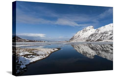 Knutstad, Lofoten Islands, Arctic, Norway, Scandinavia-Sergio Pitamitz-Stretched Canvas Print