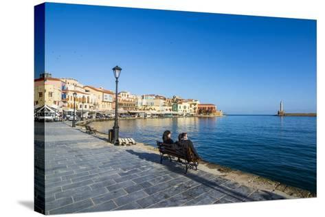 Venetian Harbour of Chania, Crete, Greek Islands, Greece, Europe-Michael Runkel-Stretched Canvas Print