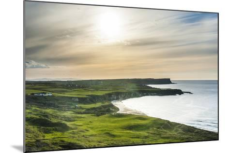 View over Whitepark Bay (White Park Bay), County Antrim, Ulster, Northern Ireland, United Kingdom-Michael Runkel-Mounted Photographic Print