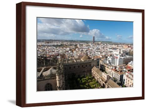 View of Seville from Giralda Bell Tower, Seville, Andalucia, Spain-Carlo Morucchio-Framed Art Print