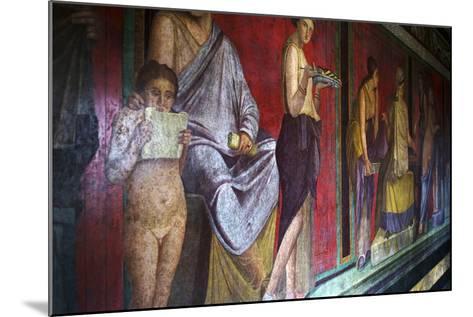 The Baccantis in the Triclinium in the Villa Dei Misteri, Pompeii, Campania, Italy-Oliviero Olivieri-Mounted Photographic Print