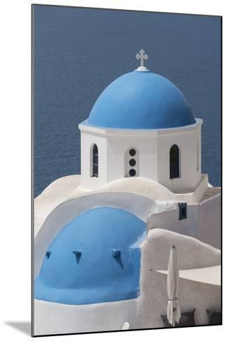 Church at Oia, Santorini, Cyclades, Greek Islands, Greece-Rolf Richardson-Mounted Photographic Print