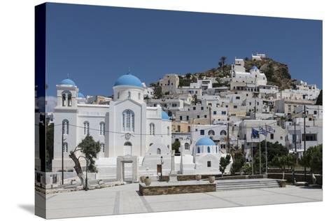 Chora, Ios, Cyclades, Greek Islands, Greece-Rolf Richardson-Stretched Canvas Print