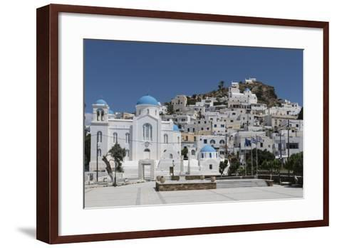 Chora, Ios, Cyclades, Greek Islands, Greece-Rolf Richardson-Framed Art Print