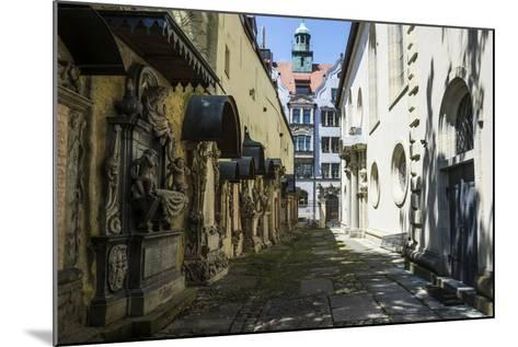 Trinity Church's Cemetery Grave Markers, Church of the Holy Trinity, Regensburg, Bavaria, Germany-Michael Runkel-Mounted Photographic Print