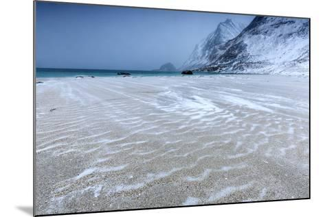 Beach Partially Snowy Surrounded by Mountains-Roberto Moiola-Mounted Photographic Print