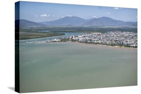 Aerial Photograph of the City and the Mouth of Trinity Inlet-Louise Murray-Stretched Canvas Print