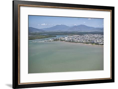 Aerial Photograph of the City and the Mouth of Trinity Inlet-Louise Murray-Framed Art Print