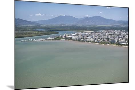 Aerial Photograph of the City and the Mouth of Trinity Inlet-Louise Murray-Mounted Photographic Print