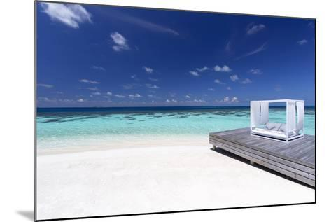 Sofa at the Beach in the Maldives, Indian Ocean-Sakis Papadopoulos-Mounted Photographic Print