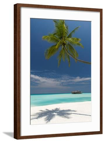 Luxury Over-Water Bungalow at Gili Lankanfushi Resort Maldives and Beach with Palm Trees-Sakis Papadopoulos-Framed Art Print
