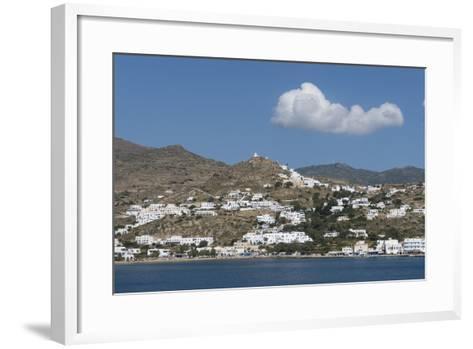 Gialos and Chora, Ios, Cyclades, Greek Islands, Greece-Rolf Richardson-Framed Art Print