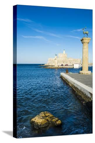 The Deers, the Medieval Old Town of the City of Rhodes, Rhodes, Dodecanese Islands, Greek Islands-Michael Runkel-Stretched Canvas Print