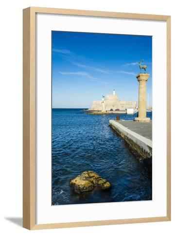 The Deers, the Medieval Old Town of the City of Rhodes, Rhodes, Dodecanese Islands, Greek Islands-Michael Runkel-Framed Art Print
