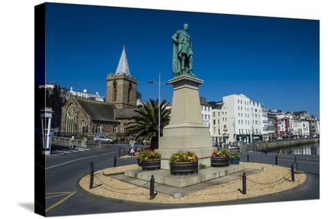Prince Albert Statue, Saint Peter Port, Guernsey, Channel Islands, United Kingdom-Michael Runkel-Stretched Canvas Print