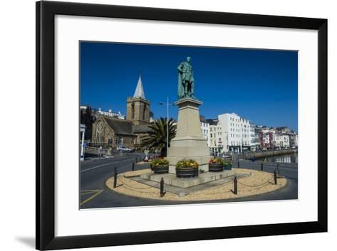 Prince Albert Statue, Saint Peter Port, Guernsey, Channel Islands, United Kingdom-Michael Runkel-Framed Art Print