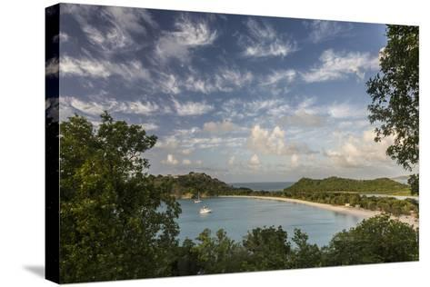 The Clouds are Illuminated by the Setting Sun on Deep Bay-Roberto Moiola-Stretched Canvas Print