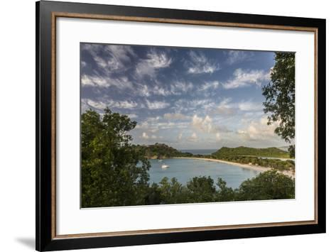 The Clouds are Illuminated by the Setting Sun on Deep Bay-Roberto Moiola-Framed Art Print