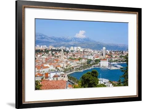 Elevated View over Split's Picturesque Stari Grad and Harbour, Split, Dalmatia, Croatia, Europe-Doug Pearson-Framed Art Print
