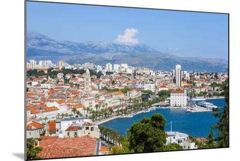 Elevated View over Split's Picturesque Stari Grad and Harbour, Split, Dalmatia, Croatia, Europe-Doug Pearson-Mounted Photographic Print
