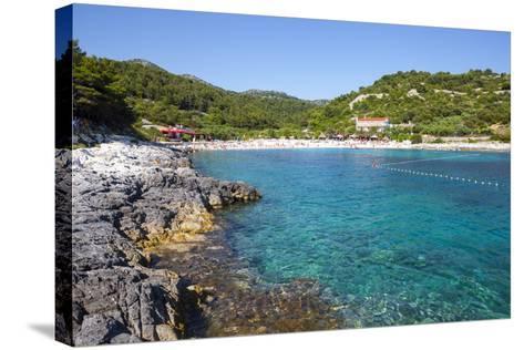 Picturesque Beach Near Hvar Town, Hvar, Dalmatia, Croatia, Europe-Doug Pearson-Stretched Canvas Print