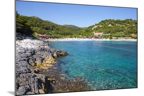 Picturesque Beach Near Hvar Town, Hvar, Dalmatia, Croatia, Europe-Doug Pearson-Mounted Photographic Print