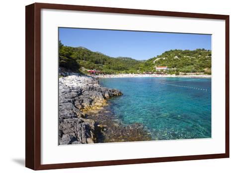 Picturesque Beach Near Hvar Town, Hvar, Dalmatia, Croatia, Europe-Doug Pearson-Framed Art Print