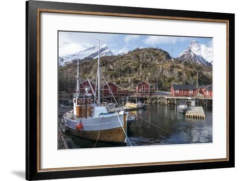 Nusfjord, Lofoten Islands, Nordland, Arctic, Norway, Scandinavia-Rolf Richardson-Framed Art Print