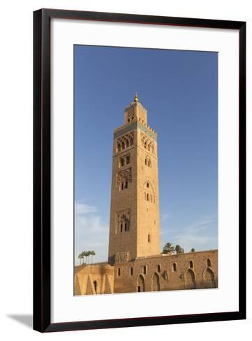 Minaret of Koutoubia Mosque, UNESCO World Heritage Site, Marrakesh, Morocco, North Africa, Africa-Stephen Studd-Framed Art Print