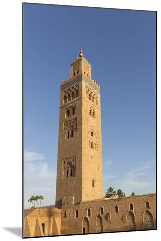 Minaret of Koutoubia Mosque, UNESCO World Heritage Site, Marrakesh, Morocco, North Africa, Africa-Stephen Studd-Mounted Photographic Print