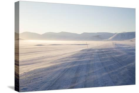 Sunrise, Adventdalen Valley Ice Road, Longyearbyen-Stephen Studd-Stretched Canvas Print