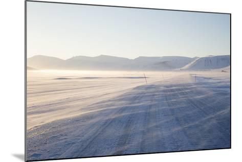 Sunrise, Adventdalen Valley Ice Road, Longyearbyen-Stephen Studd-Mounted Photographic Print