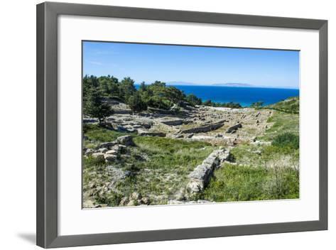 Ruins of Ancient Kameiros, Kalavarda, Rhodes, Dodecanese Islands, Greek Islands, Greece-Michael Runkel-Framed Art Print
