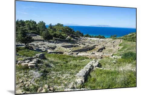 Ruins of Ancient Kameiros, Kalavarda, Rhodes, Dodecanese Islands, Greek Islands, Greece-Michael Runkel-Mounted Photographic Print