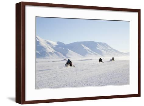 Snow Mobiles, Adventdalen Valley, Longyearbyen-Stephen Studd-Framed Art Print