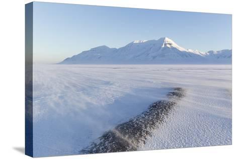 Sunrise View Towards Hiorthfjellet Mountain-Stephen Studd-Stretched Canvas Print