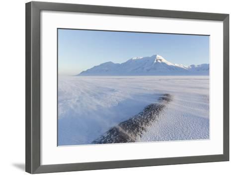 Sunrise View Towards Hiorthfjellet Mountain-Stephen Studd-Framed Art Print